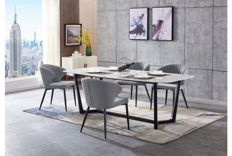 Ambrosia White Marble Rectangular Dining Set At The Best Price
